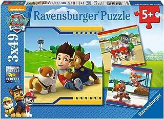Ravensburger 09369 - 3x49 bitar Barnpussel från 5 år - Paw Patrol - Hjältar med rock - en rolig aktivitet för familjen och...