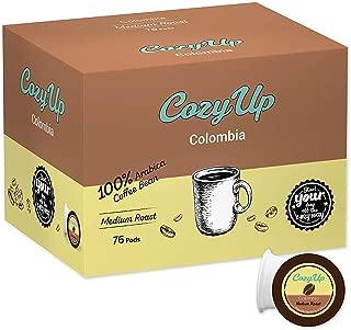 CozyUp 76-count Colombia Single Origin Coffee for Keurig K-Cup Brewers, Medium Roast