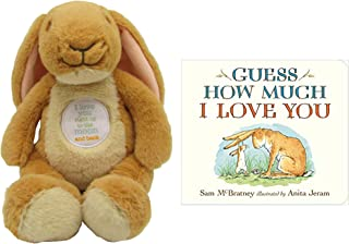 """Guess How Much I Love You Nutbrown Hare Bean Bag Plush, 9"""" and Book, Baby Gift Set (2 Piece) GuessB.B52019"""