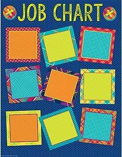 Eureka Plaid Multicolor Classroom Job Chart Poster for School, 17'' x 22''
