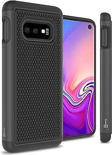 CoverON Heavy Duty Hybrid HexaGuard Series for Samsung Galaxy S10E Case, Black