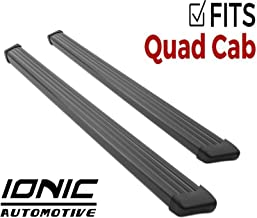 Ionic 61 Series Black (fits) Dodge Ram 2014-2017 Quad Cab 1500 Only Running Boards Side Steps 611007782080