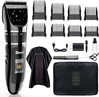 SKEY Professional Hair Clippers - Rechargeable Hair Beard Trimmer Cordless Haircut Kit with Titanium & Ceramic Waterproof ...
