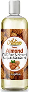 Artizen Sweet Almond Oil - 16oz (Ounce) Bottle (100% Pure & Natural) - Perfect Carrier Oil for Diluting Essential Oils - C...