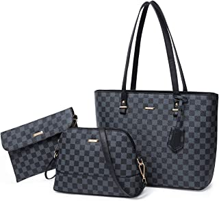 Handbags for Women Tote Bag Shoulder Bag Top Handle Satchel Purse Set 3pcs