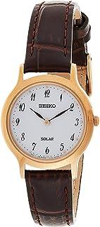 SEIKO Women's Quartz Watch, Analog Display and Leather Strap SUP372P1