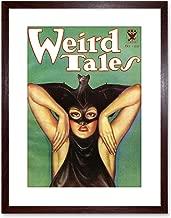 The Art Stop Magazine Cover Weird Tales BAT FACE Woman Framed Print F97X3938