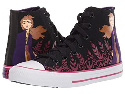 Converse Kids Chuck Taylor(r) All Star(r) Frozen Collection (Little Kid/Big Kid) ((Hi) Black/Cherries Jubilee/White) Girl
