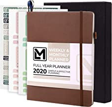"""2020 Planner Little More – 7""""x 9"""" Luxurious Dated Weekly & Monthly Planner 2020 with Productivity & Calendar Stickers in Gift Box - Daily Agenda Guaranteed to Get You Organized-Thick Paper, Inner Pock"""