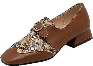 Mo Joc Chaussures Simples de Mode pour Femmes Petites Chaussures en Cuir