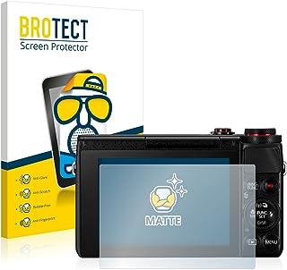 BROTECT Protector Pantalla Anti-Reflejos Compatible con Canon PowerShot G7 X G7X (2 Unidades) Pelicula Mate Anti-Huellas