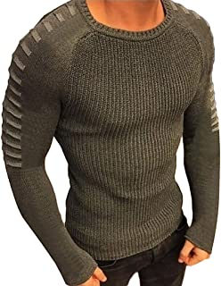 T Shirt Men Winter Long Sleeve Solid Knitted Sweater Pullover Tops Blouse