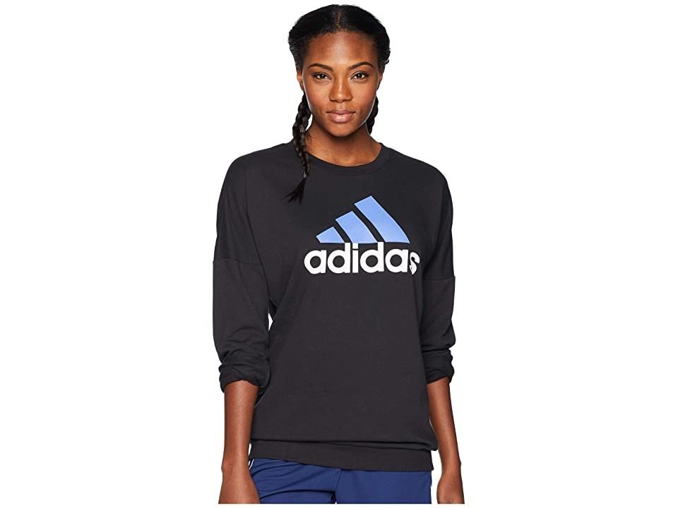 adidas Badge of Sport Pullover (Black/Real Lilac) Women