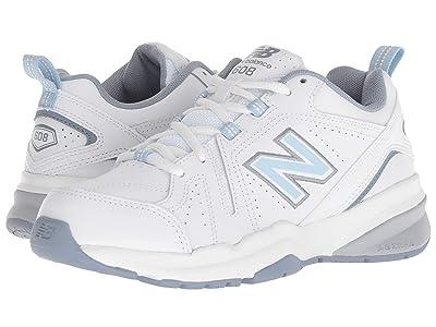 New Balance WX608v5 (White/Light Blue) Women