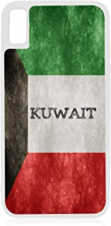 Flag Kuwait - Kuwaiti Grunge Flag Design White Rubber Case for iPhone Xs Max - iPhone Xs Max Accessories
