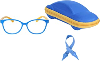 Kids Blue Light Blocking Glasses for Boys Girls with Adjustable Strap + Case + Cleaning Cloth