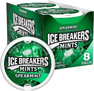 ICE BREAKERS Sugar Free Mints, Spearmint, 1.5 Ounce (Pack of 8)