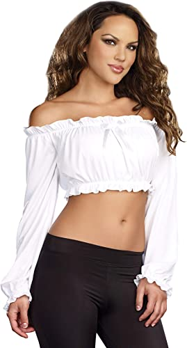 Dreamgirl Women's Ruffled Crop Top Costume Accessory