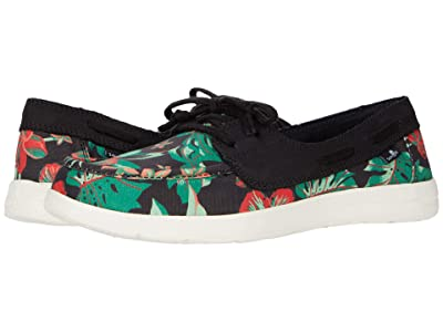 Sanuk Pair O Sail Lite Floral (Black) Women