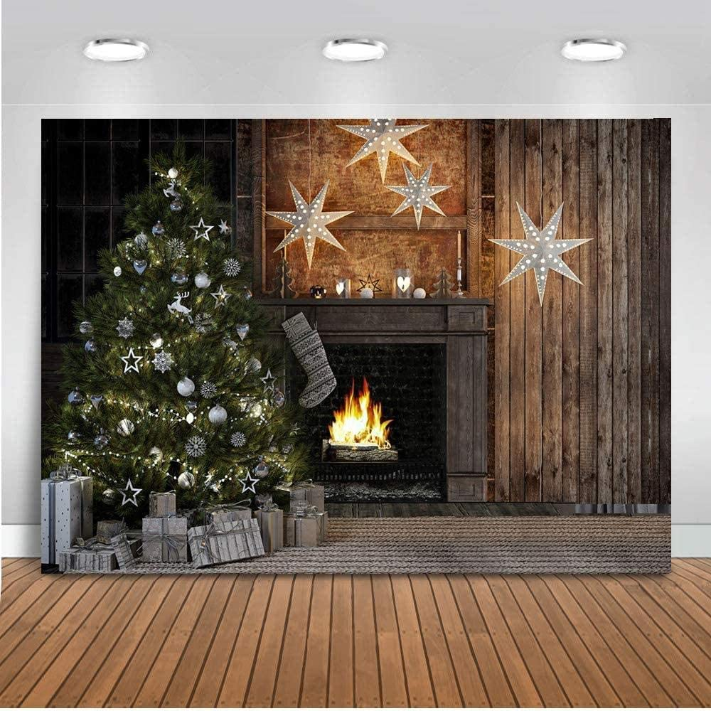 New Winter Forest Christmas Backdrop 7x5ft Vinyl White Snow Green Pine Tree Background Christmas Frozen Snow Photography Backdrops