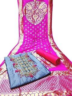 EPEX Women's Banarasi Jakad & Santoon & Chanderi Unstitched Salwar Suit