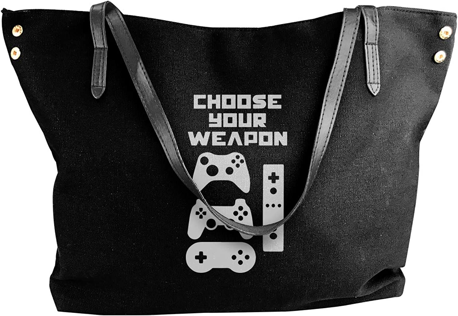 Choose Your Weapon 1-1 Women'S Casual Canvas Sling Bag For School Shoulder Tote