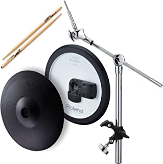 Roland CY-13R V-Cymbal Ride w/ MDY-12 Hatched Mount & Zildjian Trigger Wood Anti-Vibe Drumsticks - Bundle