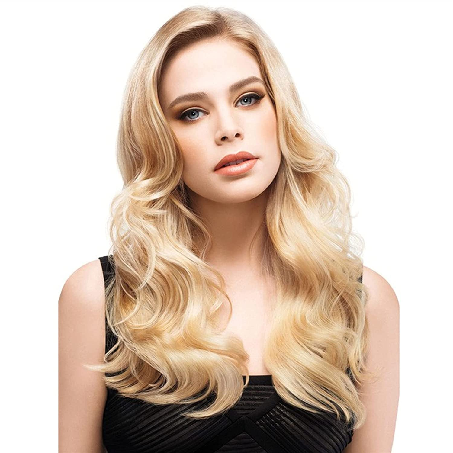 Superior Natural long wavy curly Manufacturer OFFicial shop brown heat-resis high-gloss mixed blonde