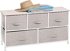 Portaoggetti con Cassetti Rimovibili 100 x 30 x 55//83 x 29 x 77 cm Costway Armadio con 5 Cassetti in Tessuto 100 x 30 x 55cm