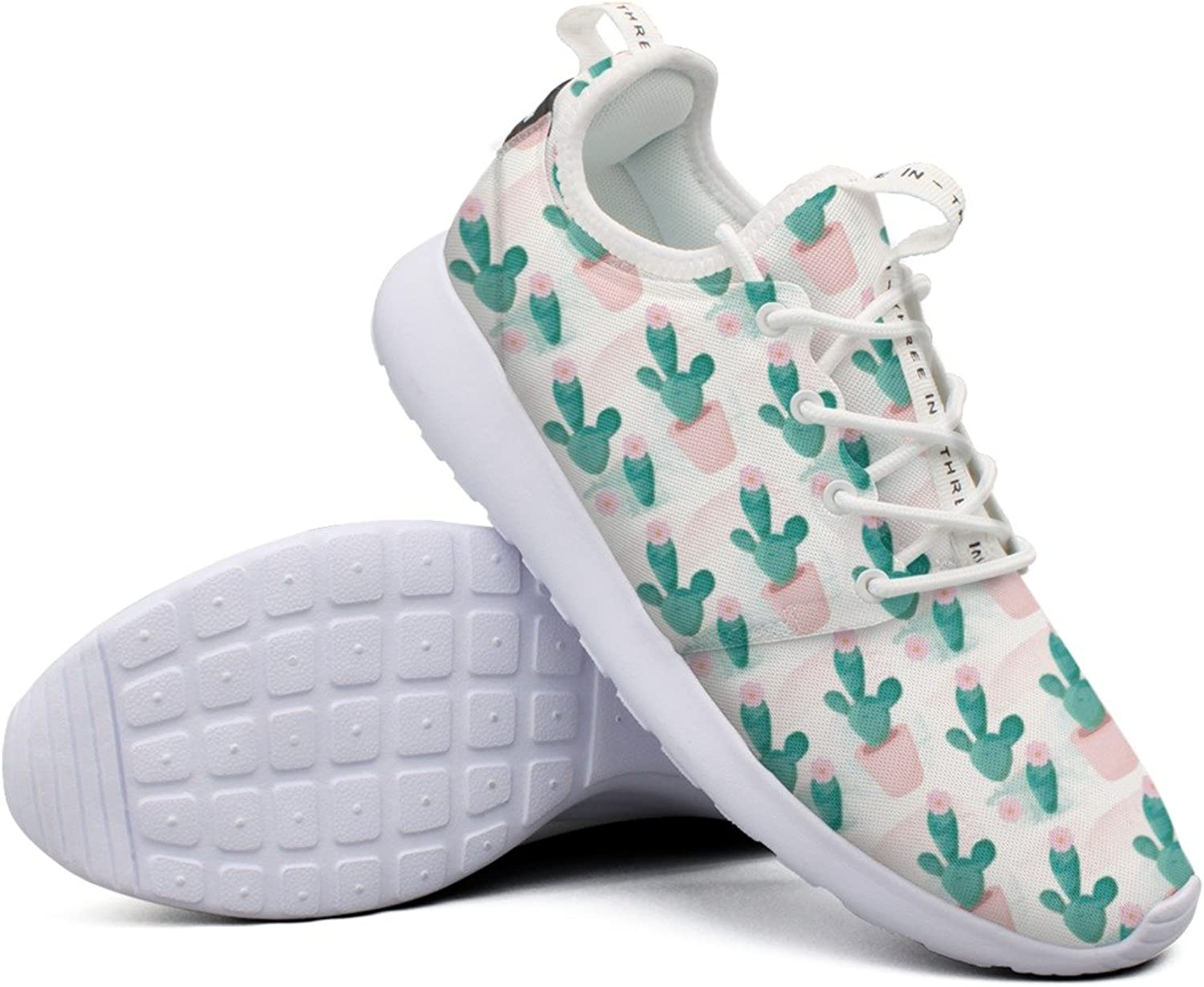 Womens Watercolor Cacti colorful New Funny Running shoes