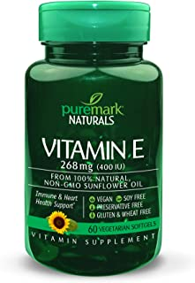 Puremark Vitamin E 400 Iu Vegetarian Softgels, 60 Count