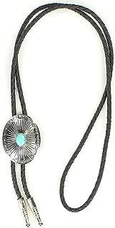 Bolo Tie Silver/Turquoise Concho Pendant One Size