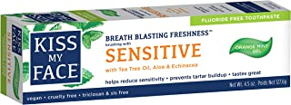 Kiss My Face Fluoride Free Sensitive Toothpaste 4.5 Ounce