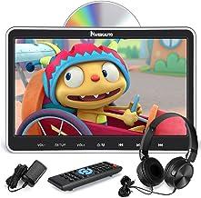 "NAVISKAUTO 10.1"" Car DVD Player with HDMI Input Wall Charger Headphone Headrest Mount Bracket Support Region Free Last Memory"