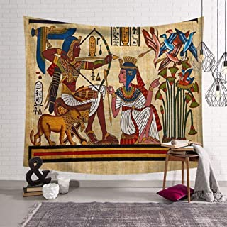 Vic Gray Ancient Egypt Tapestry Polyester Printed Home Dector Throw Beach Yoga Mat Ethnic Wall Hangings,150x230cm