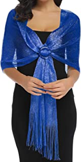 Sparkling Metallic Shawls and Wraps for Evening Party...