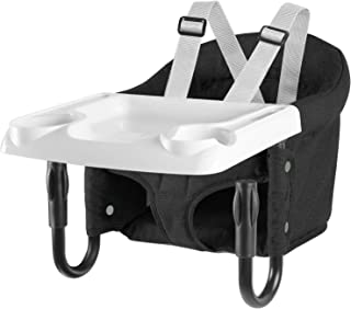 Hook On Chair, Fold-Flat Storage and Tight Fixing Clip on Table High Chair, Removable Seat Cushion, Fast Table Chair with Dining Tray Plus