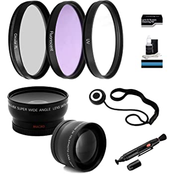 70-200 4.0 Lens Includes 2x Telephoto Lens 24-85mm Lens Cap Keeper For the Canon 17-85mm 0.45x HD Wide Angle Lens w//Macro UltraPro Deluxe Lens Cleaning Kit 3-piece Filter Kit UV, CPL, FL-D 67mm Digital Pro Deluxe Lens Kit + Lens Cleaning Pen