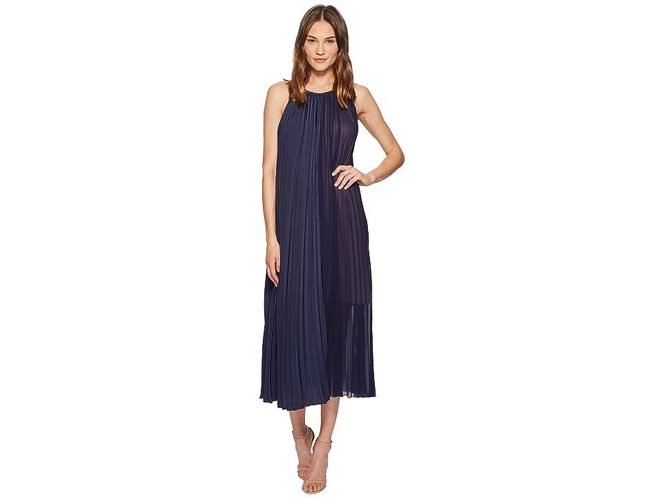 ESCADA Dicantar Tiered Sleeveless Dress (Navy) Women