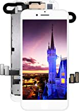 Pre-Assembled Screen Replacement for iPhone 7 White, LCD Display and Touch Screen Digitizer Replacement for A1660, A1779, A1778 w/Facing Proximity Sensor, Ear Speaker, Front Camera and Repair Tools