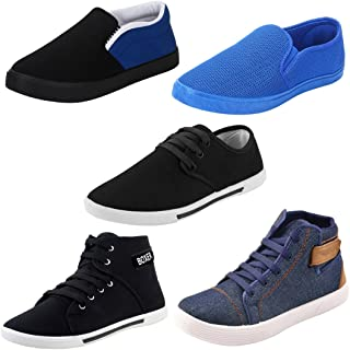 Super Men Combo Pack of 5 Casual Loafer & Moccasins with Sneakers Shoes