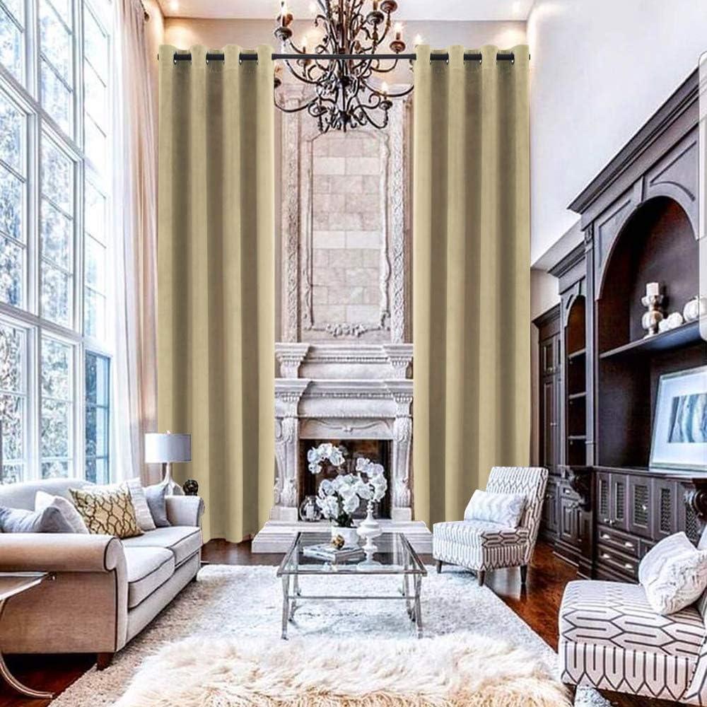 Feeniibuk Extra Long Velvet Curtain Thermal Room Darkening Insul Max 52% Topics on TV OFF