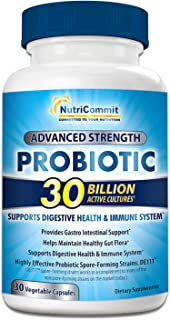 Probiotics for Women & Men - 30 Billion Probiotic in Veg Capsules to Promote Stomach Health - One Daily Dose - Digestive Supplement for Adults who Want to Improve Immune System