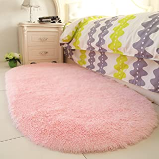 YOH Fluffy Pink Area Rugs for Bedroom Girls Rooms Kids Rooms Nursery Decor Mats 2.6'x5.3'