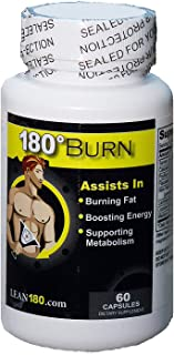 SALE! Best Weight Loss Supplement, Get Lean, Burn Body and Belly Fat, Break Through Plateaus, 100% All Natural Formula, Triple Strength (60 Capsules) Lean 180 Burn