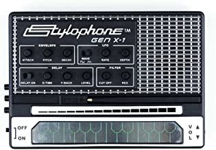 STYLOPHONE GEN X-1 Portable Analog Synthesizer: with Built-in Speaker, Keyboard and Soundstrip, LFO, Low pass filter, Enve...