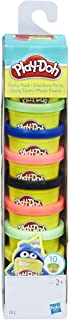 Play-Doh – 10 pots de Pate A Modeler - Couleurs Party Tube - 28 g chacun