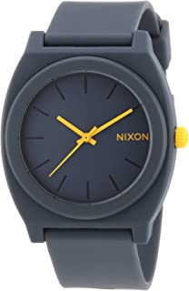 A1191244 Unisex Time Teller in Matte Steel with Gray Dial Polyurethane Strap Watch