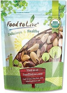 Organic Brazil Nuts, 4 Pounds – No Shell, Non-GMO, Kosher, Raw, Vegan
