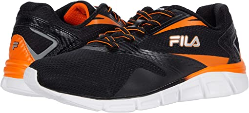 Black/Vibrant Orange/Metallic Silver